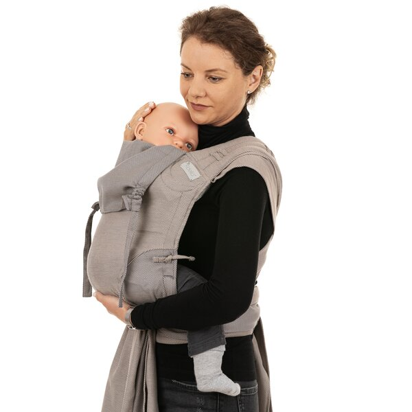 Fidella® Fly Tai - Mei Tai Baby Carrier - Lines - beige - Toddler