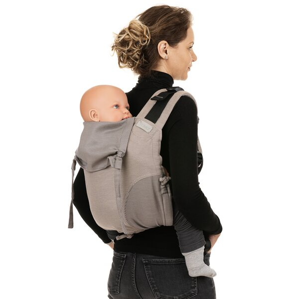 Fidella® Onbuhimo V2 - Back Carrier - Lines - beige - Toddler
