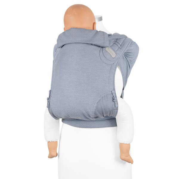 Fidella® Fly Tai - Mei Tai Baby Carrier - Lines - light blue - Toddler