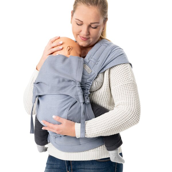Fidella® FlyClick Plus - Halfbuckle Baby Carrier - Lines - light blue - Toddler