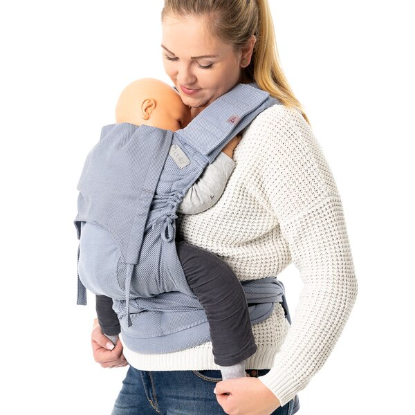 Fidella® Suck Pad for baby carriers - Lines - light blue