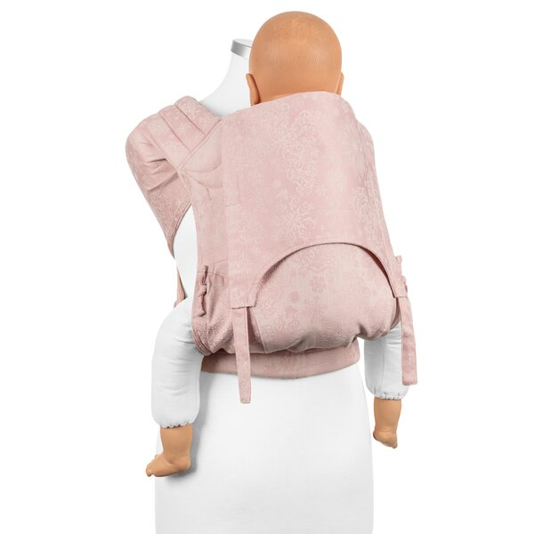 Fidella® Fly Tai - Mei Tai Baby Carrier - Iced Butterfly - pale pink - Toddler