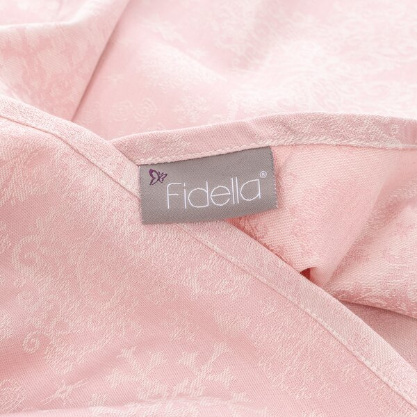 Fidella® Baby Wrap - Iced Butterfly - pale pink - size 6 - 460 cm