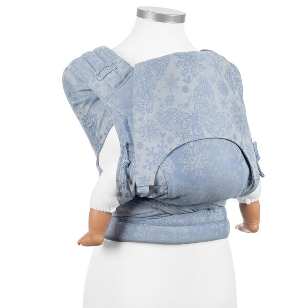 Fidella® Fly Tai - Mei Tai Baby Carrier - Iced Butterfly - light blue - Baby