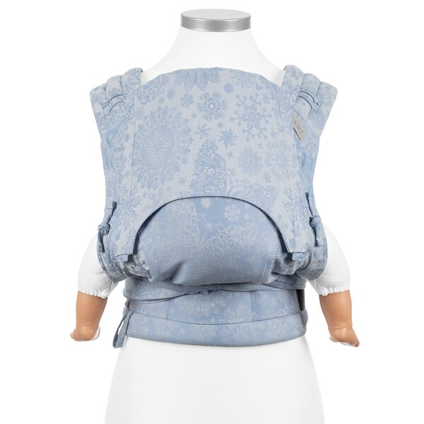 Fidella® FlyClick - Halfbuckle Baby Carrier - Iced Butterfly - light blue - Baby