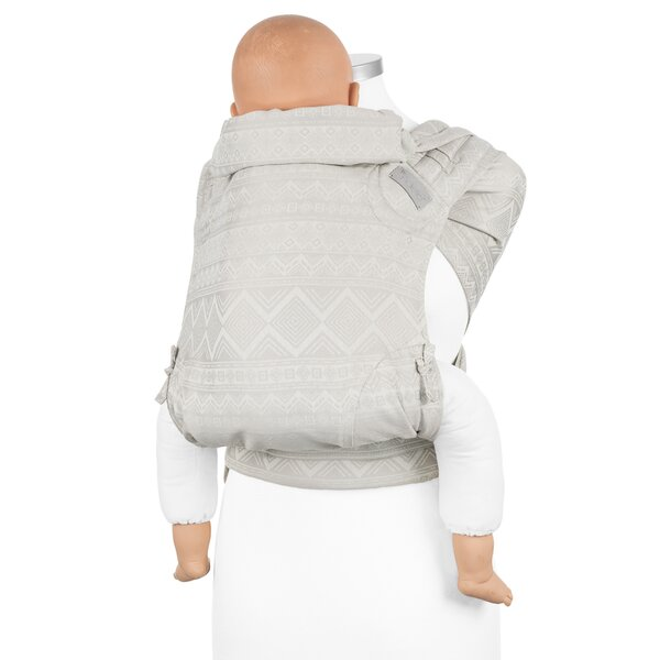 Fidella FlyClick Plus Baby carrier - Classic - Cubic Lines - pale grey