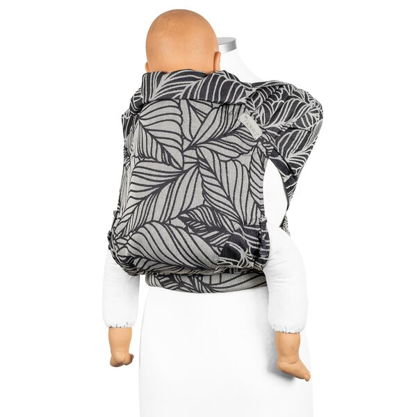 Fidella® Fly Tai - Mei Tai Baby Carrier - Dancing Leaves - black & white - Toddler