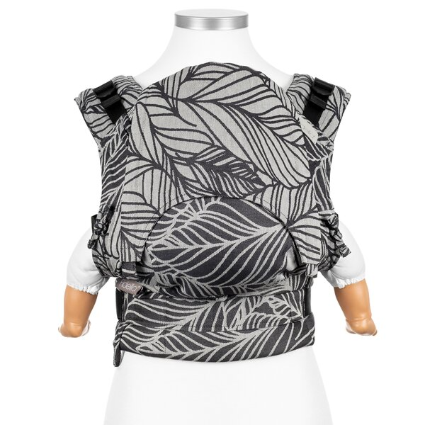 Fidella® Fusion - Fullbuckle baby carrier - Dancing Leaves - black & white - Baby