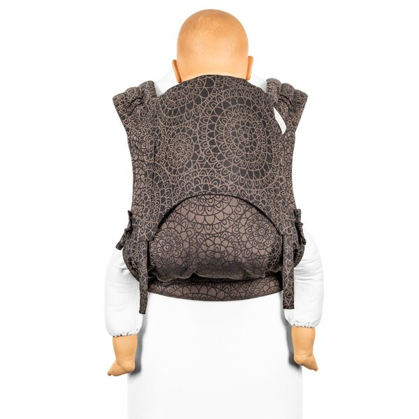 Fidella® FlyClick Plus - Halfbuckle Baby carrier - Mosaic - mocha brown - Toddler