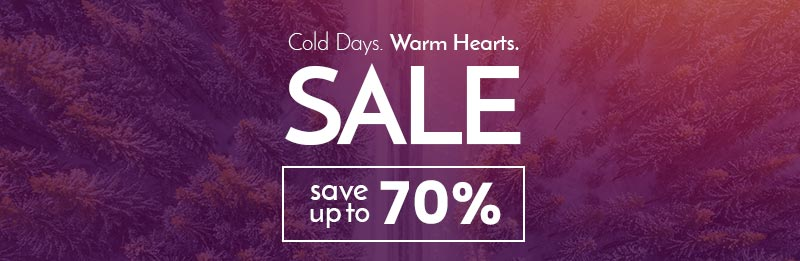 Fidella Winter SALE - Cold Days. Warm Hearts. SAVE UP TO 70%