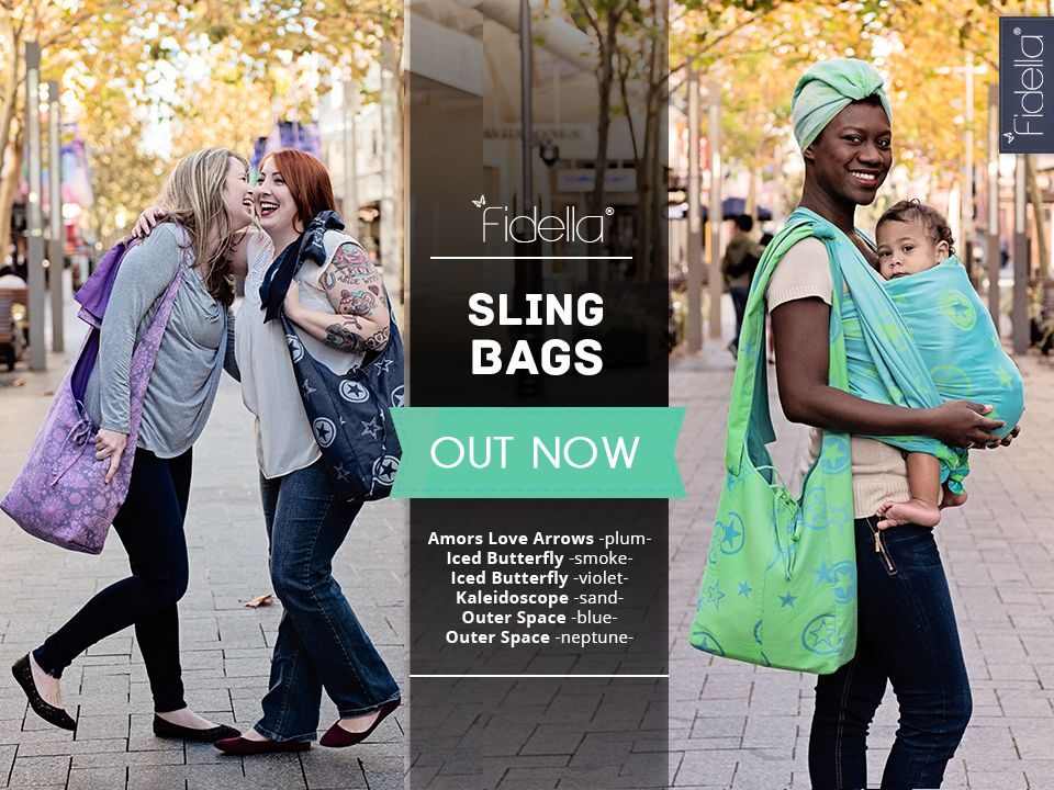 NEW: Fidella Sling bags made of wrap fabric