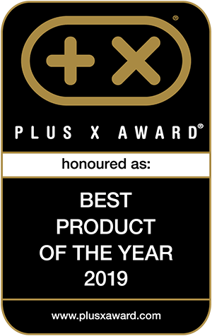 PLUS X AWARD honoured as: BEST PRODUCT OF THE YEAR 2019